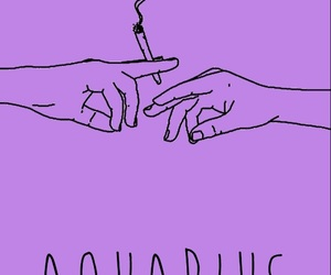 aquarius, hands, and purple image
