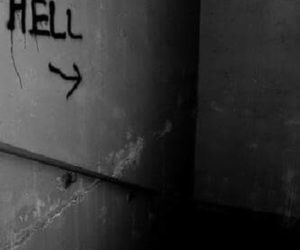 hell and black and white image