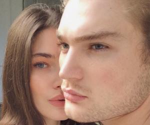 blue eye, couple, and eye image