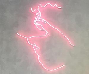 lights, neon, and pink image