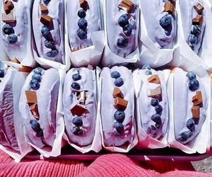 berries, cake, and caramel image