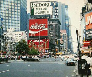 city, 90s, and coca cola image