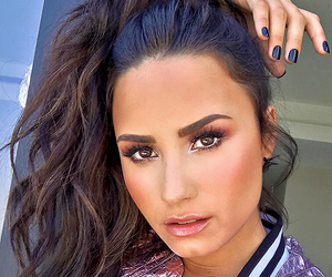 demi lovato, makeup, and instagram image