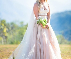 actress, beautiful, and bride image