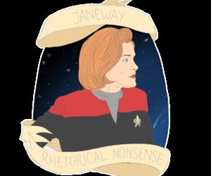star trek voyager and janeway image
