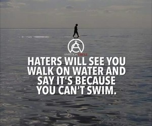 haters, sea, and text image