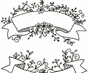 banner, draw, and flowers image