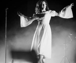 black and white, singer, and music image