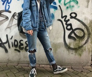 vans, clothes, and denim image
