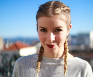 blonde, city, and boxerbraids image