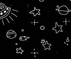 space, stars, and black image