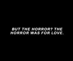 love, horror, and quotes image