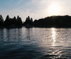 boat, japan, and lake image