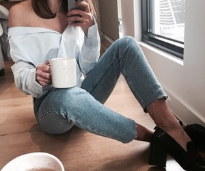 fashion, girl, and tea image