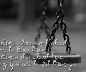 let go, swing, and typography image