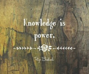knowledge, power, and quote image