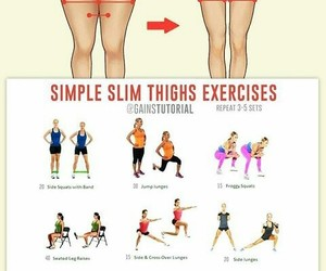 fitness, exercises, and legs image