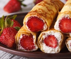 cream, recipe, and crepes image