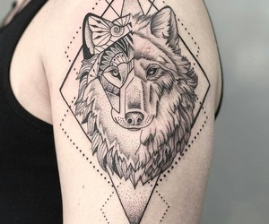 animal, tattoo, and dotwork image