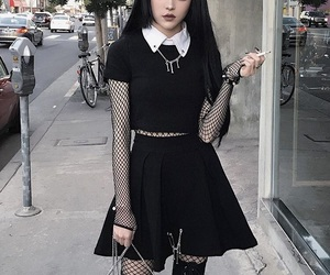 goth, black, and style image