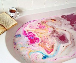 bath, colors, and book image