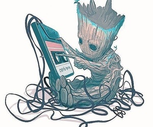 guardians of the galaxy, adorable baby groot, and awesome mix image