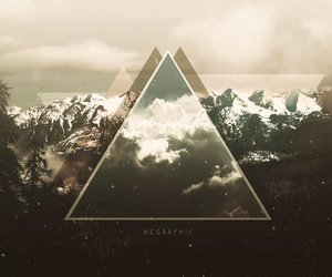 wallpaper, mountains, and triangle image