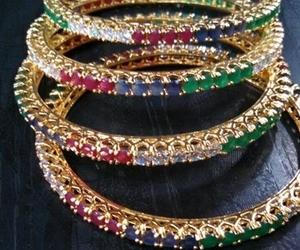 bangles, beautiful, and jewelery image