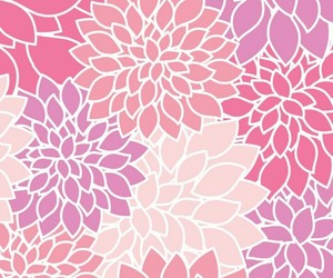 flowers, pink, and pattern image