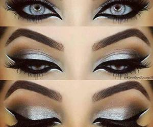 beautiful, makeup, and silver image