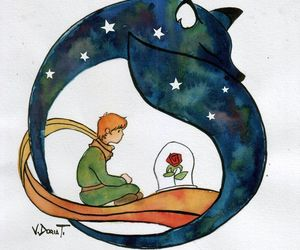 art, the little prince, and watercolour image
