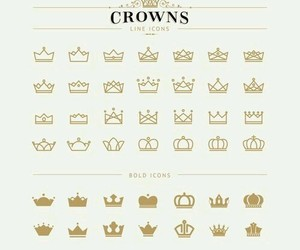 art, beautiful, and crown image