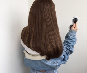 brown, hair, and pretty image