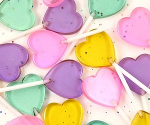 heart, candy, and pastel image