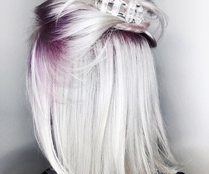 hair, white, and purple image