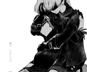 anime, 2b, and 9s image