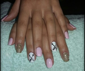 baby pink, glitter, and pink nails image