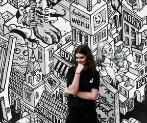 art, berlin, and black image