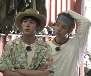 jin, bts, and kim taehyung image