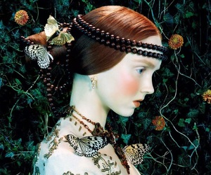 Lily Cole and butterfly image