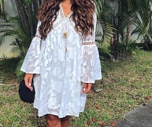dress, fashion, and bohemian chic image