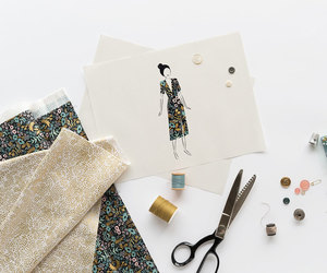 fabric, fashion, and florals image
