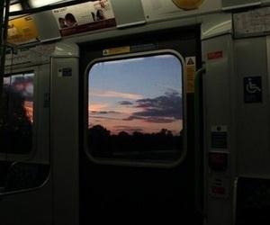 sky, grunge, and train image