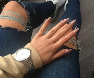 nails, style, and jeans image