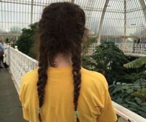 yellow, aesthetic, and braid image