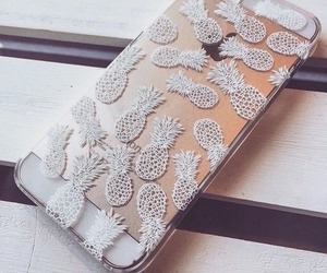 iphone, case, and pineapple image