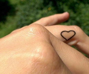black, finger, and heart image