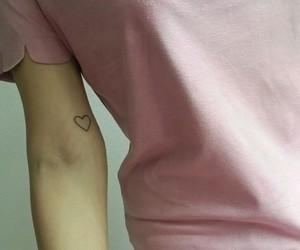 girl, heart, and brazo image