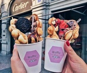 food, oreo, and waffles image