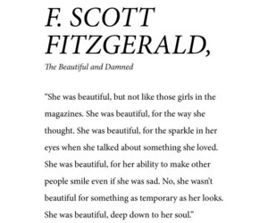 beauty, book, and f. scott fitzgerald image